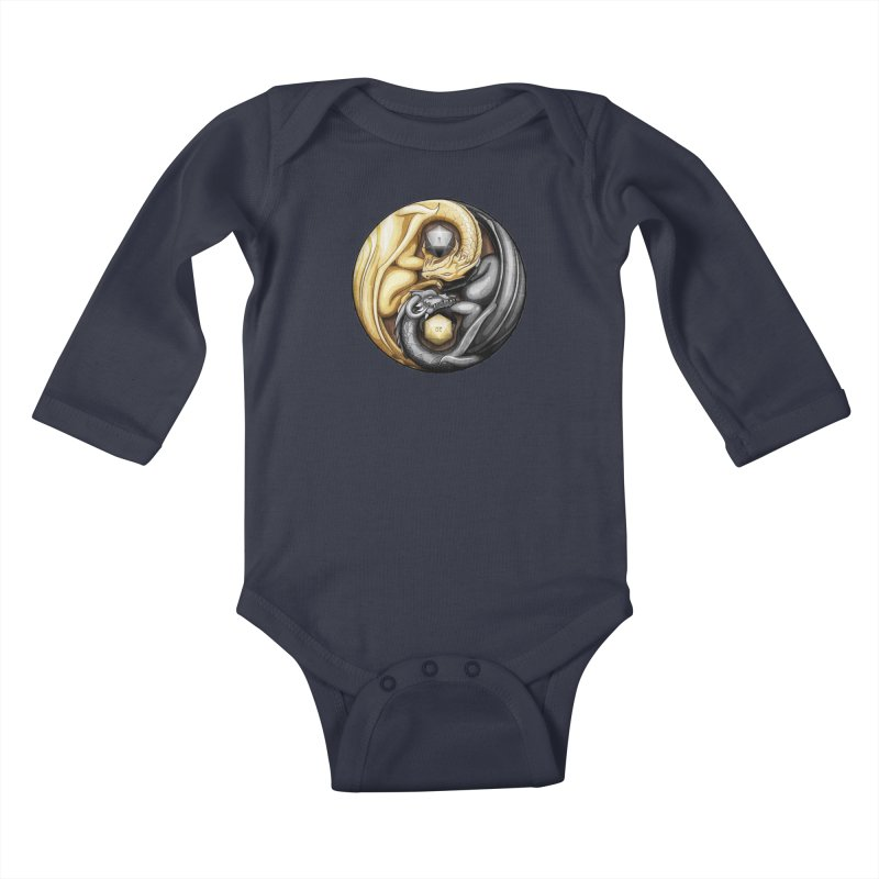 Balanced Dragons D20 Kids Baby Longsleeve Bodysuit by maratusfunk's Shop