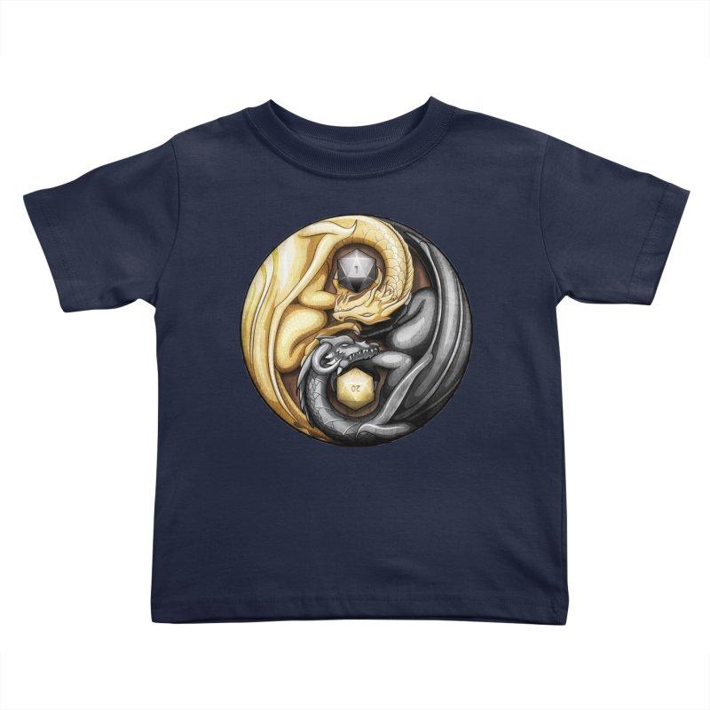Balanced Dragons D20 Kids Toddler T-Shirt by maratusfunk's Shop