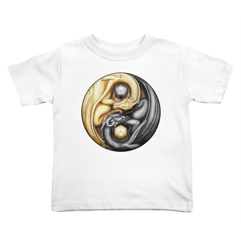 Balanced Dragons D20 Kids Toddler T-Shirt by maratusfunk's Shop