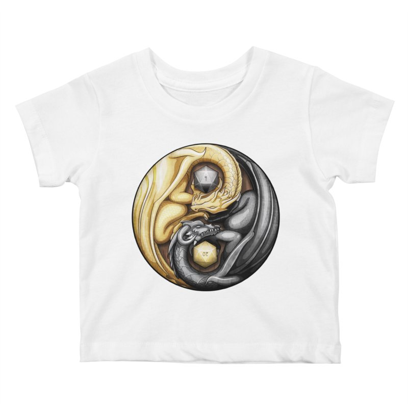 Balanced Dragons D20 Kids Baby T-Shirt by maratusfunk's Shop