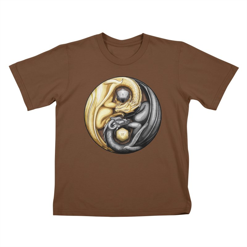 Balanced Dragons D20 Kids T-Shirt by maratusfunk's Shop