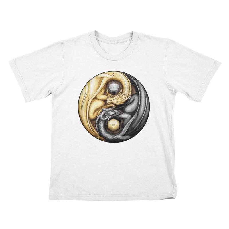 Balanced Dragons D20 Kids T-Shirt by maratusfunk's Shop