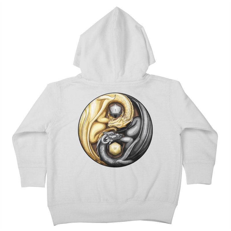 Balanced Dragons D20 Kids Toddler Zip-Up Hoody by maratusfunk's Shop