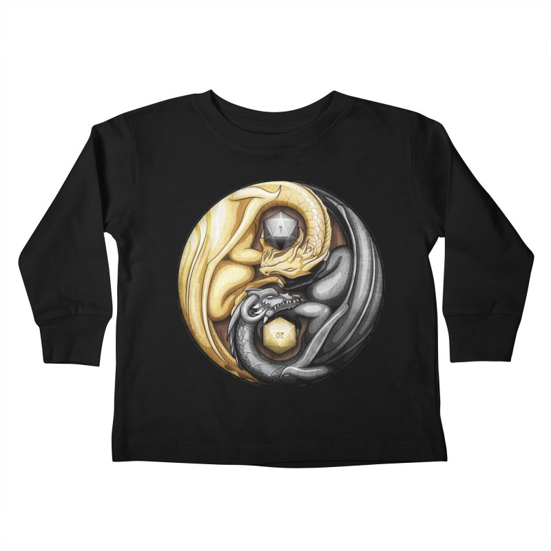 Balanced Dragons D20 Kids Toddler Longsleeve T-Shirt by maratusfunk's Shop