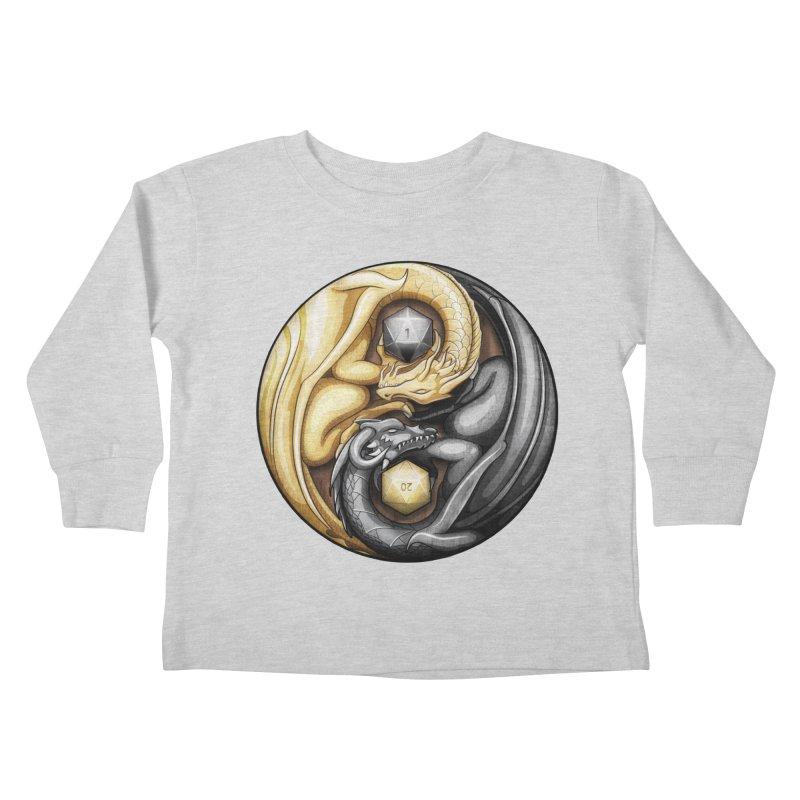 Balanced Dragons D20 Kids Toddler Longsleeve T-Shirt by maratusfunk's Shop