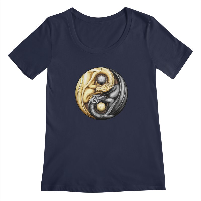 Balanced Dragons D20 Women's Regular Scoop Neck by maratusfunk's Shop