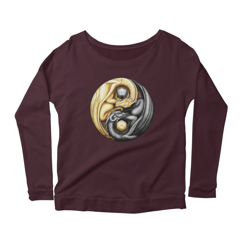 Balanced Dragons D20 Women's Scoop Neck Longsleeve T-Shirt by maratusfunk's Shop