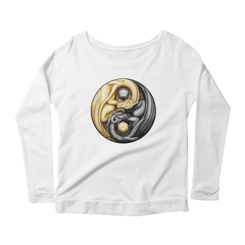 Balanced Dragons D20 Women's Longsleeve Scoopneck  by maratusfunk's Shop