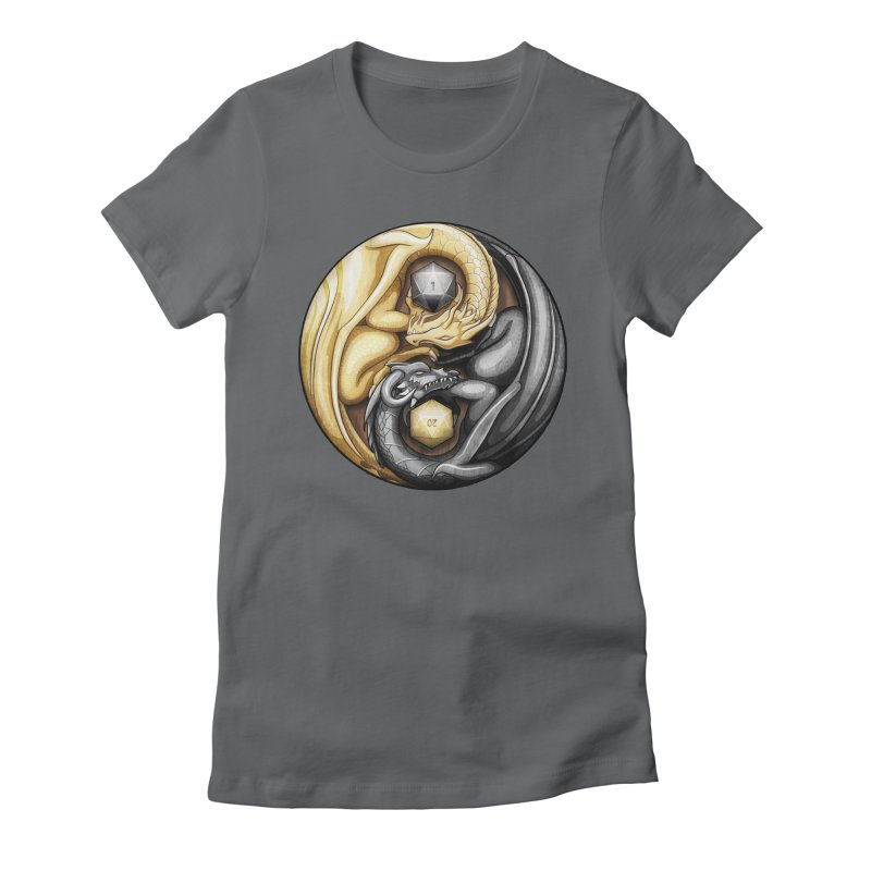 Balanced Dragons D20 Women's Fitted T-Shirt by maratusfunk's Shop