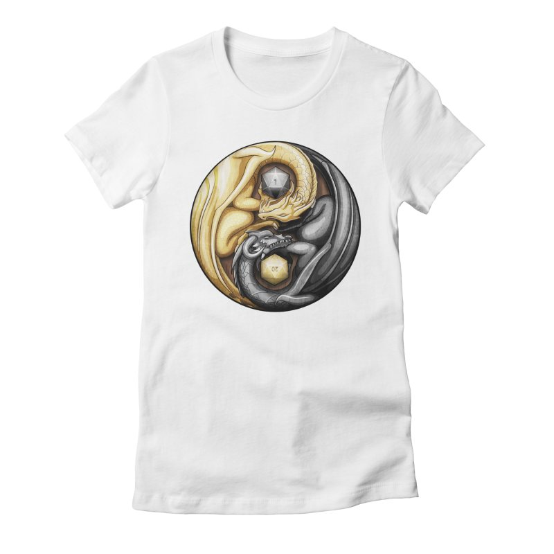 Balanced Dragons D20 Women's Fitted T-Shirt by maratusfunk's Shop