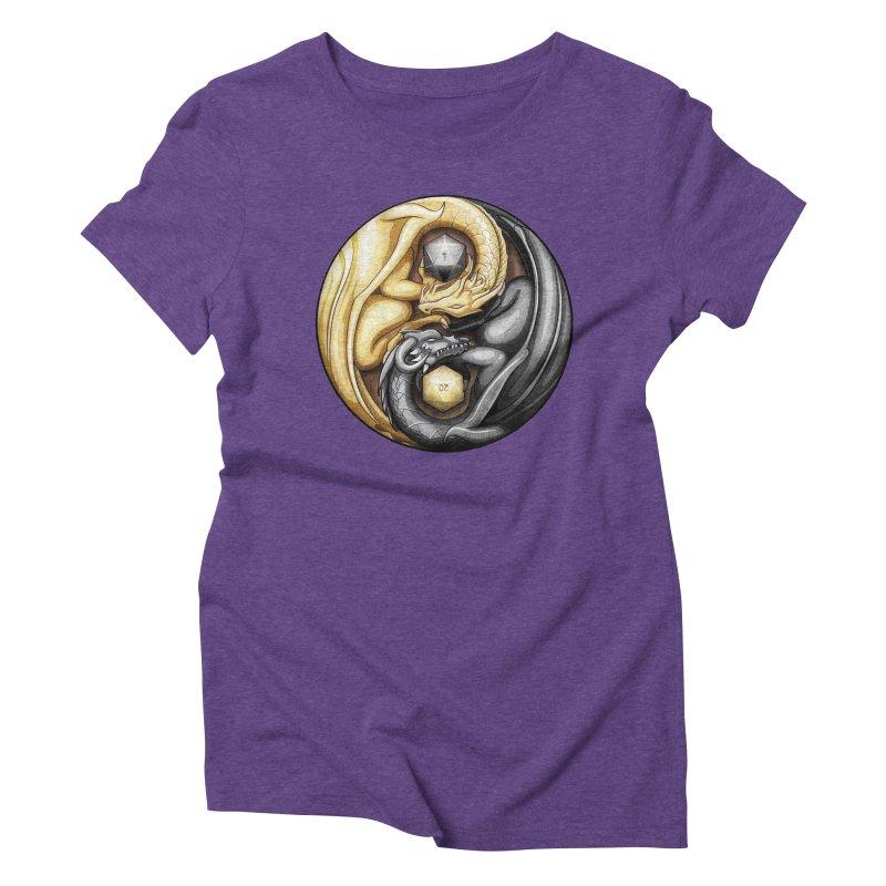 Balanced Dragons D20 Women's Triblend T-Shirt by maratusfunk's Shop