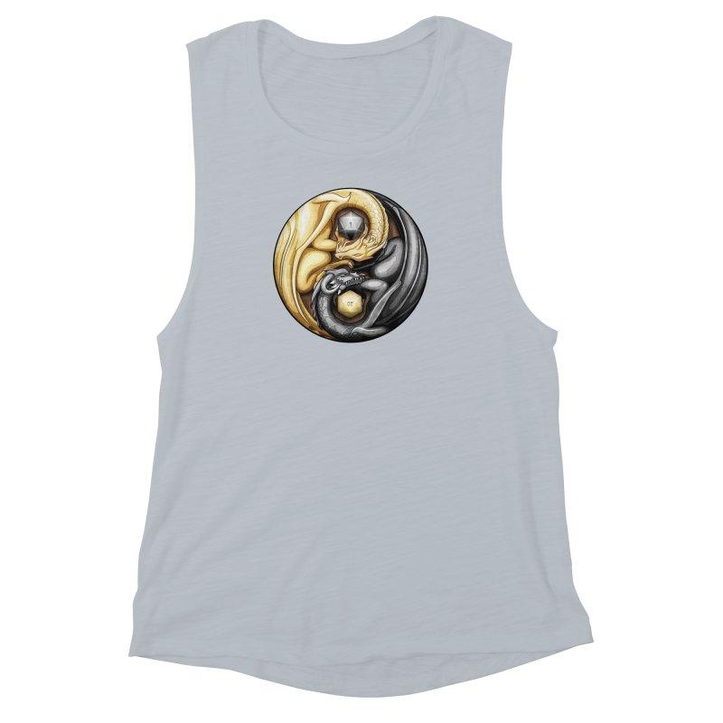 Balanced Dragons D20 Women's Muscle Tank by maratusfunk's Shop