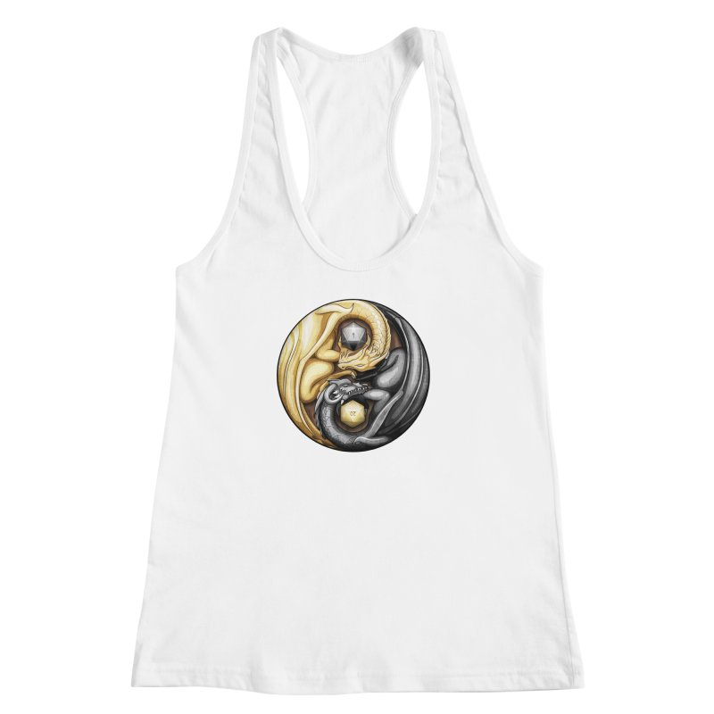 Balanced Dragons D20 Women's Racerback Tank by maratusfunk's Shop