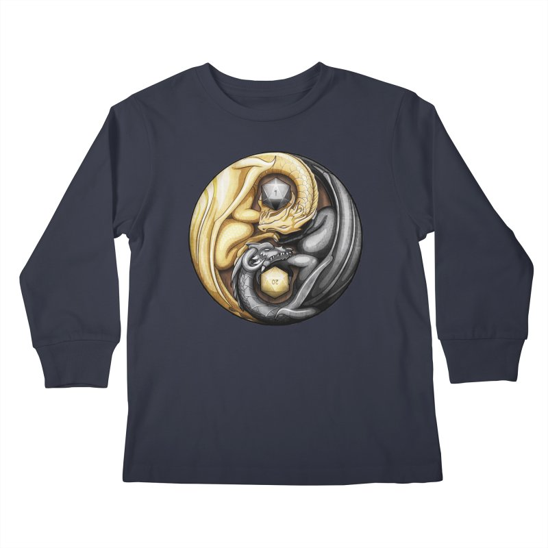 Balanced Dragons D20 Kids Longsleeve T-Shirt by maratusfunk's Shop