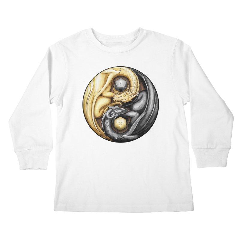 Balanced Dragons D20 Kids Longsleeve T-Shirt by maratusfunk's Shop