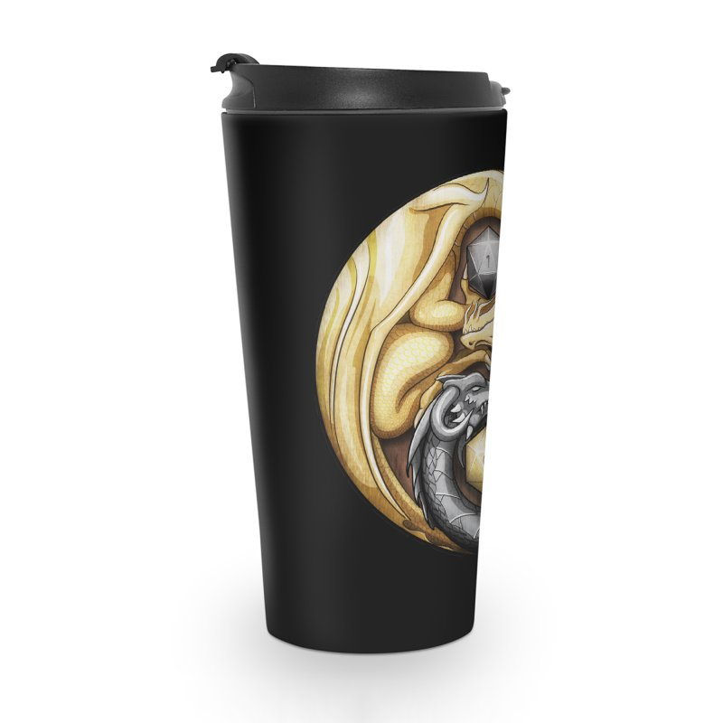 Balanced Dragons D20 Accessories Travel Mug by maratusfunk's Shop