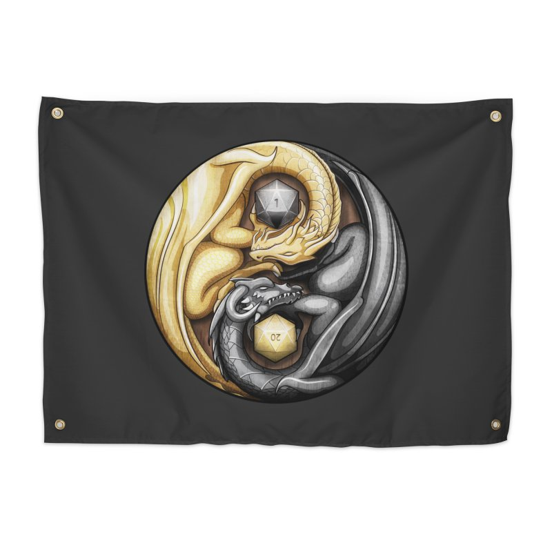 Balanced Dragons D20 Home Tapestry by maratusfunk's Shop