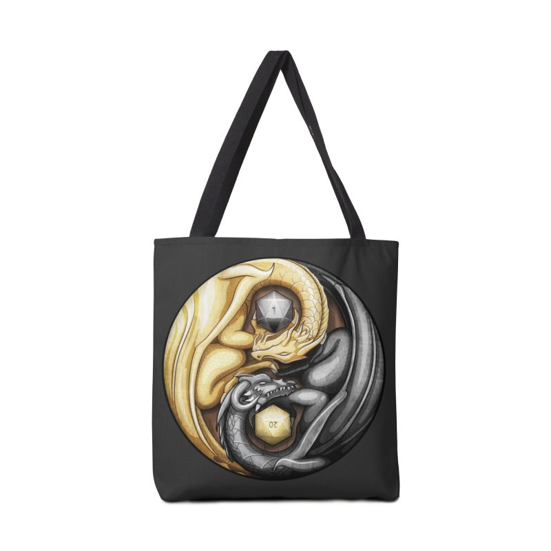 Balanced Dragons D20 Accessories Tote Bag Bag by maratusfunk's Shop