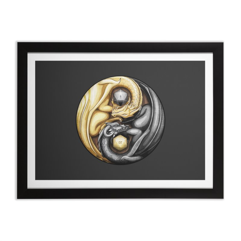Balanced Dragons D20 Home Framed Fine Art Print by maratusfunk's Shop