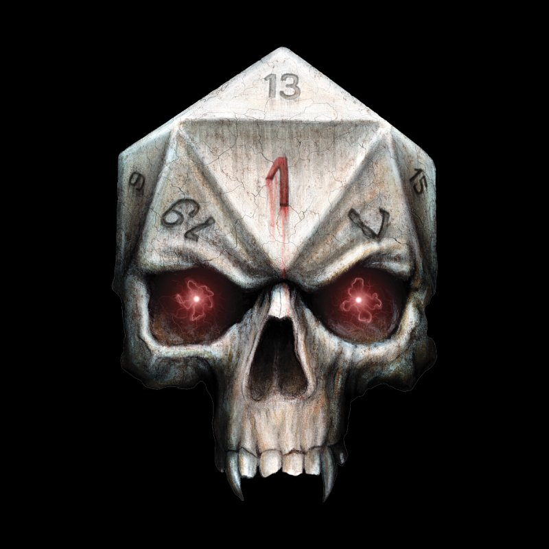 Skull D20   by maratusfunk's Shop