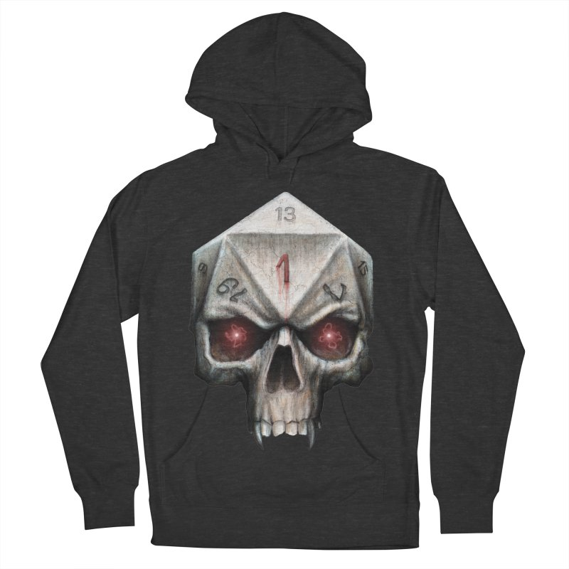 Skull D20 Men's French Terry Pullover Hoody by maratusfunk's Shop