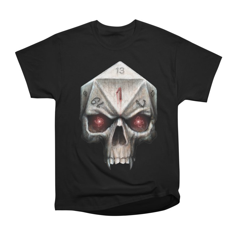 Skull D20 Women's Heavyweight Unisex T-Shirt by maratusfunk's Shop