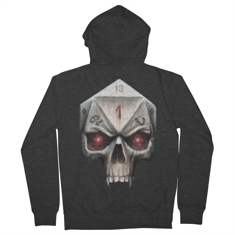 Skull D20 Women's French Terry Zip-Up Hoody by maratusfunk's Shop