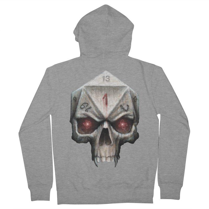 Skull D20 Men's French Terry Zip-Up Hoody by maratusfunk's Shop