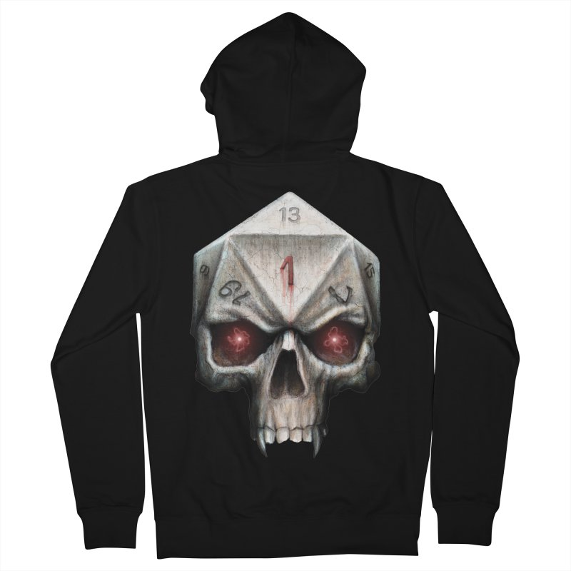 Skull D20 Men's French Terry Zip-Up Hoody by maratusfunk's Shop