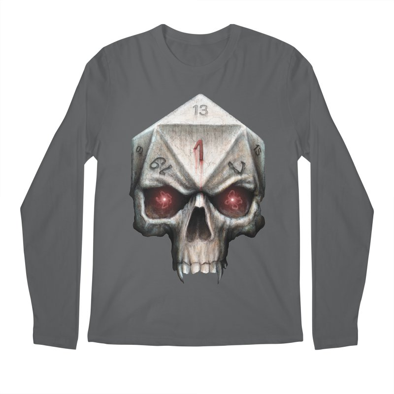 Skull D20 Men's Regular Longsleeve T-Shirt by maratusfunk's Shop