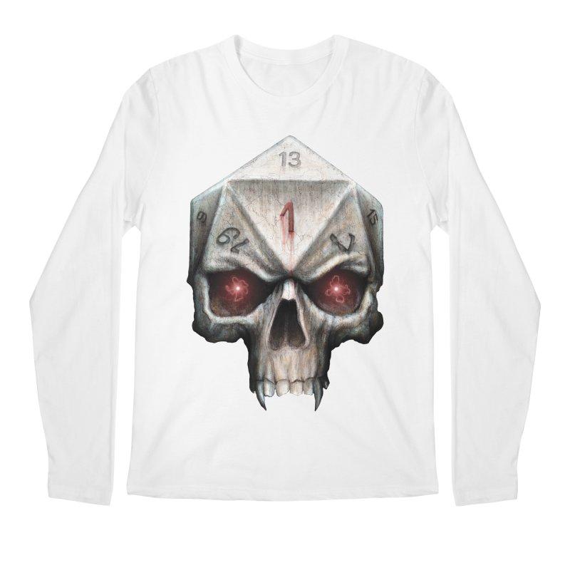Skull D20 Men's Regular Longsleeve T-Shirt by maratusfunk's Shop