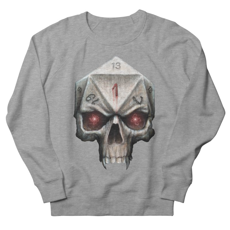 Skull D20 Women's French Terry Sweatshirt by maratusfunk's Shop
