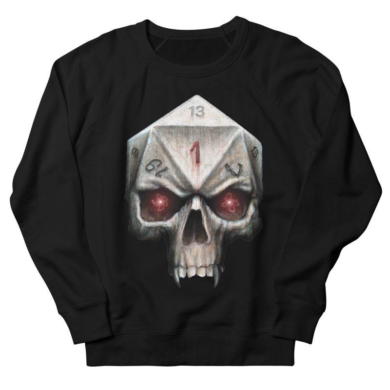 Skull D20 Women's French Terry Sweatshirt by maratusfunk's Shop