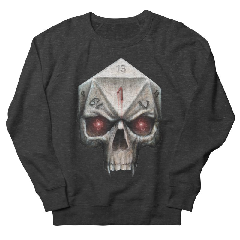 Skull D20 Men's French Terry Sweatshirt by maratusfunk's Shop