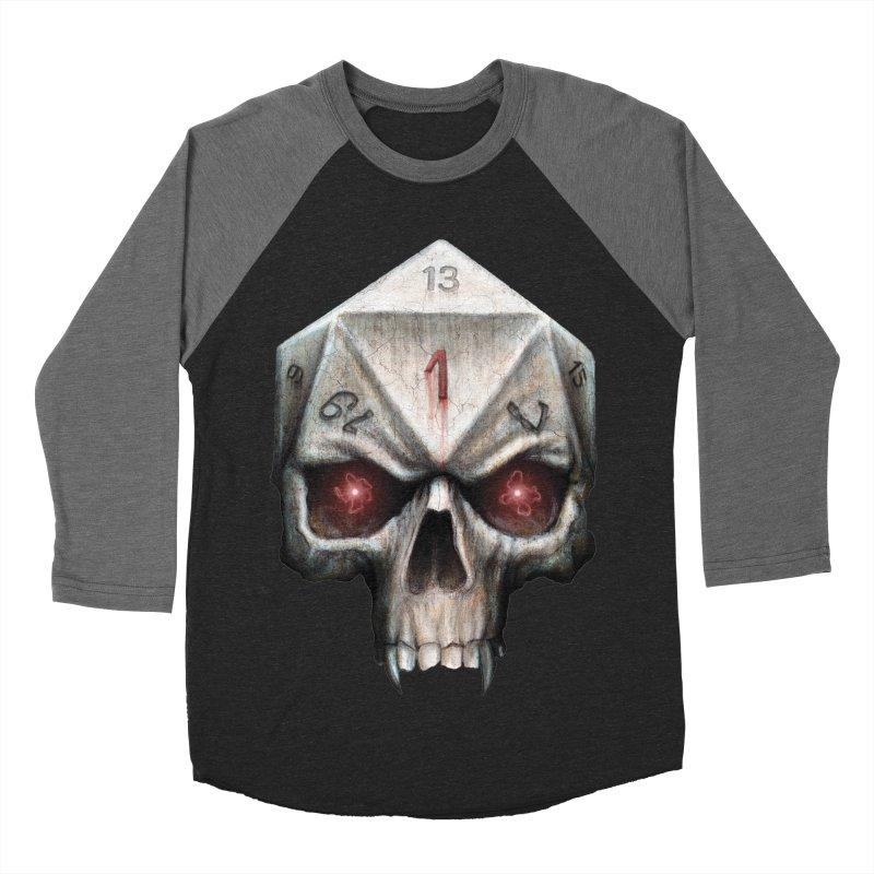 Skull D20 Men's Baseball Triblend Longsleeve T-Shirt by maratusfunk's Shop