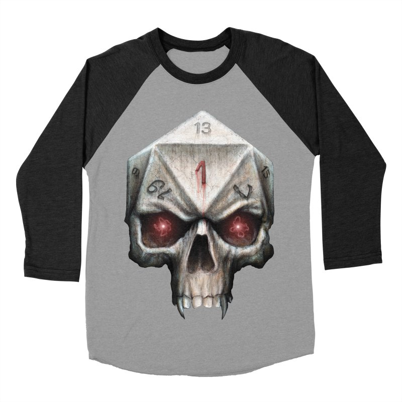 Skull D20 Men's Baseball Triblend Longsleeve T-Shirt by maratusfunk's Shop