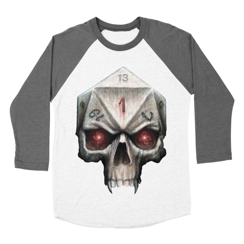 Skull D20 Men's Baseball Triblend T-Shirt by maratusfunk's Shop