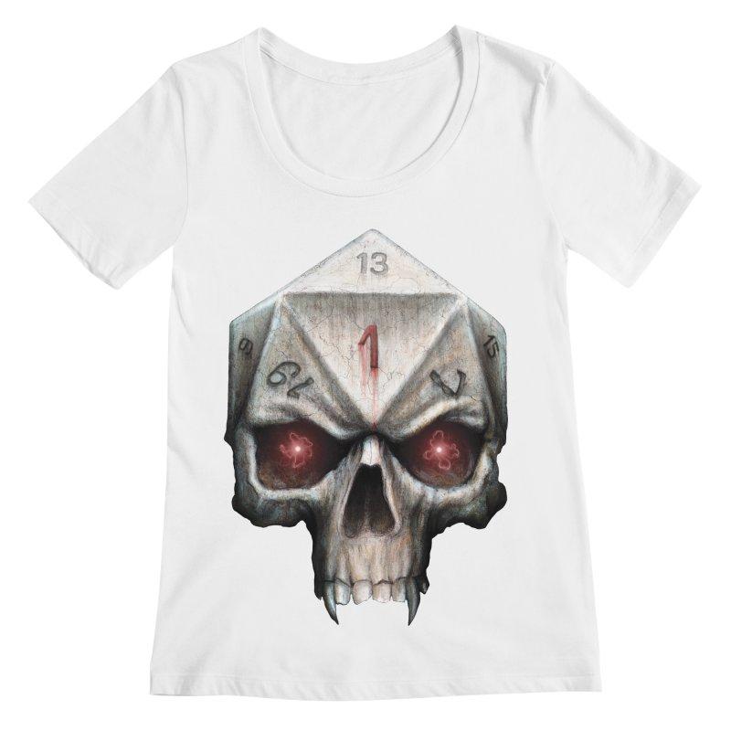 Skull D20 Women's Regular Scoop Neck by maratusfunk's Shop