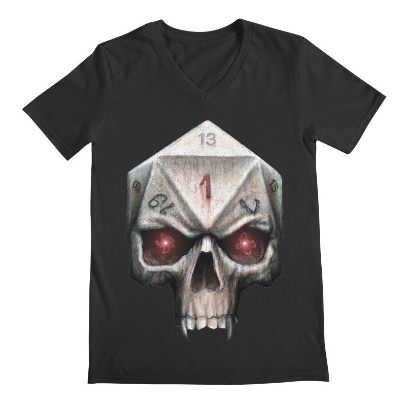 Skull D20 Men's Regular V-Neck by maratusfunk's Shop