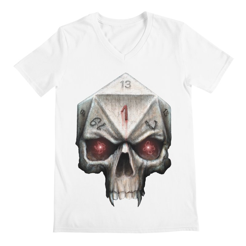 Skull D20 Men's V-Neck by maratusfunk's Shop