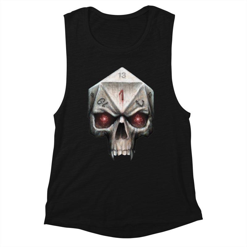 Skull D20 Women's Muscle Tank by maratusfunk's Shop