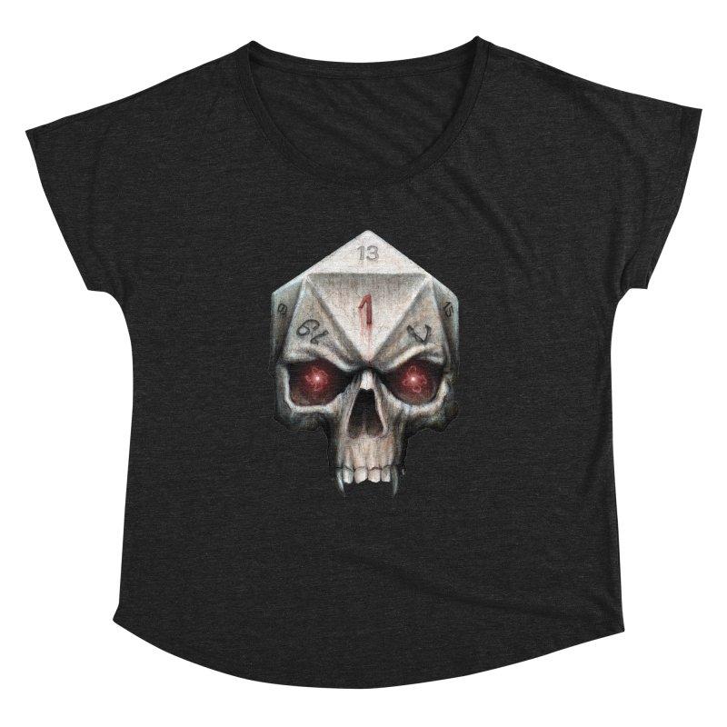Skull D20 Women's Dolman Scoop Neck by maratusfunk's Shop