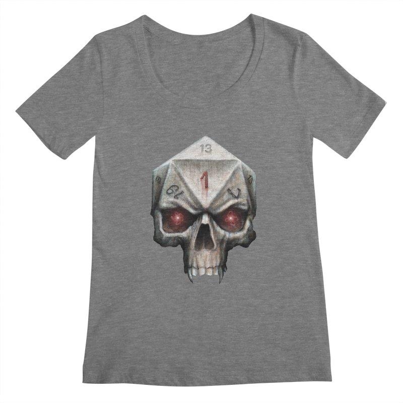 Skull D20 Women's Scoopneck by maratusfunk's Shop