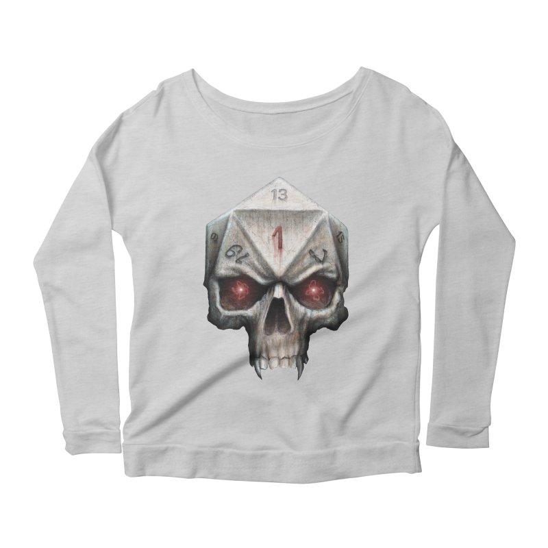 Skull D20 Women's Scoop Neck Longsleeve T-Shirt by maratusfunk's Shop