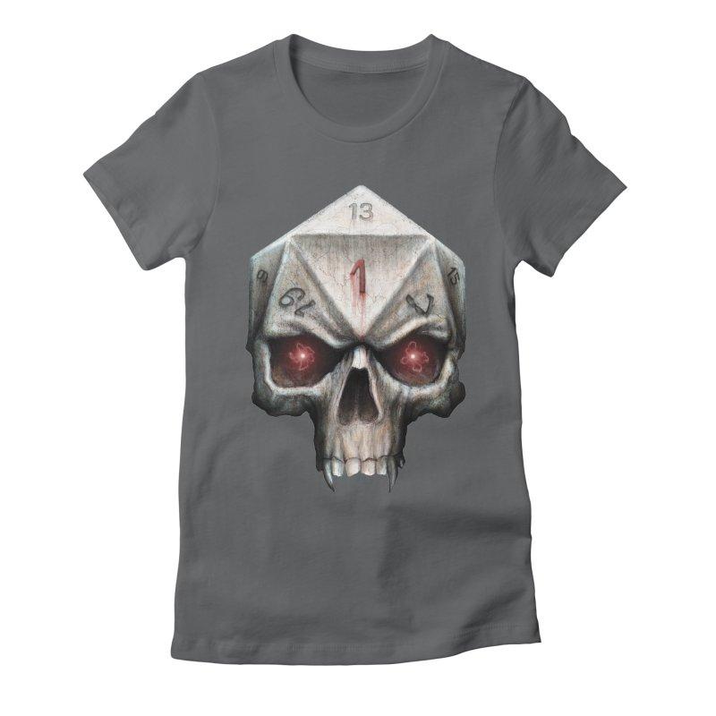 Skull D20 Women's Fitted T-Shirt by maratusfunk's Shop