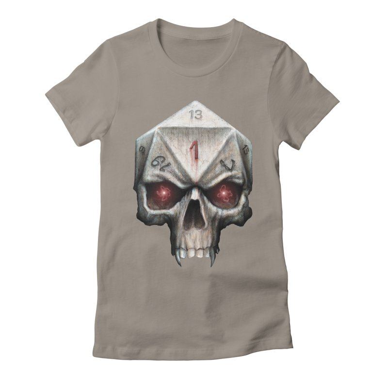 Skull D20 Women's Fitted T-Shirt by maratusfunk's Shop
