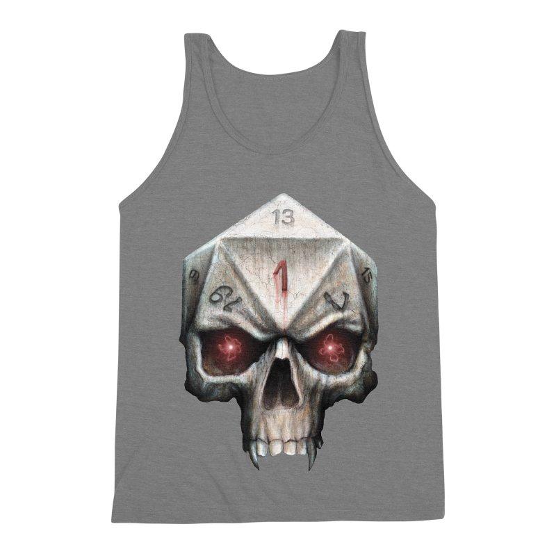 Skull D20 Men's Triblend Tank by maratusfunk's Shop