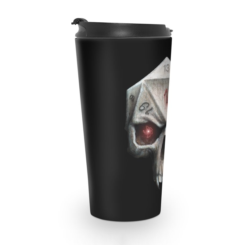 Skull D20 Accessories Travel Mug by maratusfunk's Shop