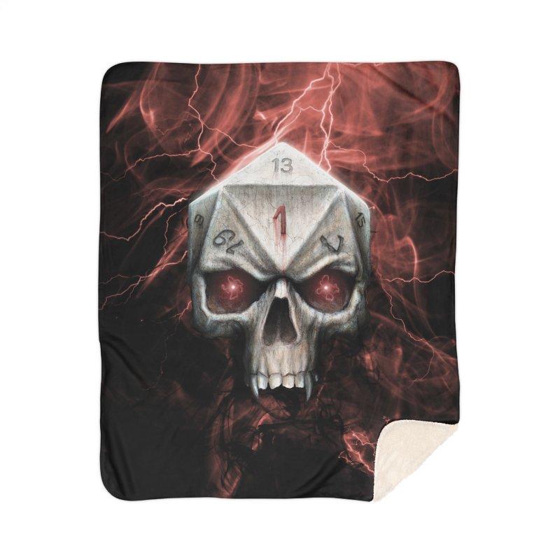 Skull D20 Home Sherpa Blanket Blanket by maratusfunk's Shop