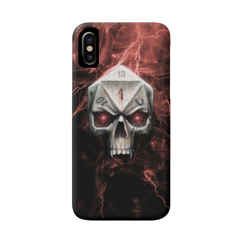 Skull D20 Accessories Phone Case by maratusfunk's Shop